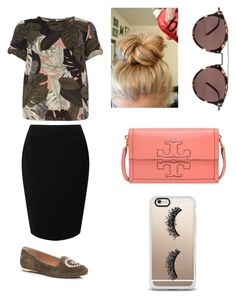 """""""Modest style"""" by ashlyn-burchette on Polyvore featuring Dorothy Perkins, Jacques Vert, Jack Rogers, Tory Burch, Oliver Peoples and Casetify"""