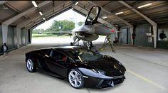 Lamborghini Aventador w/ F16 Fighting Falcon!