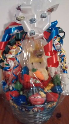 Lg handmade spiderman fun gift basket ebay sale negle Image collections