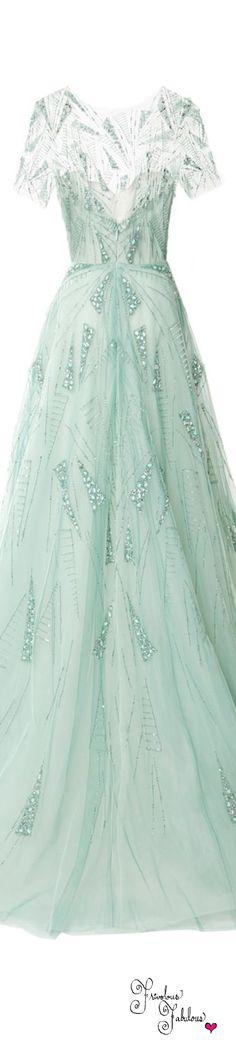 Frivolous Fabulous -  Monique Lhuillier Pre Fall 2015 Beautiful Pre Wedding Party Gown Idea