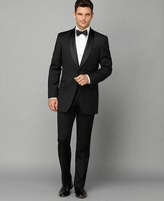 Tommy Hilfiger Jacket, Tuxedo Shawl Collar Slim Fit - Mens Suits & Suit Separates - Macy's