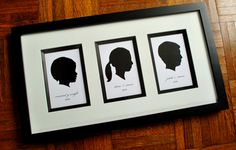 Silhouettes of children - so awesome. To make for Grandma?