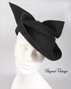 A chicly beautiful 1940s tilt hat ~