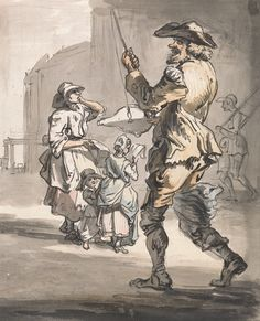 Paul Sandby - London Cries- Fun upon Fun - 1759. Google Art Project