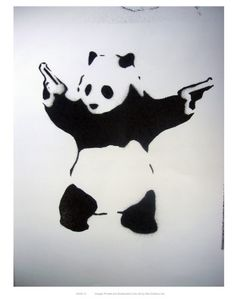 """""""Panda eats, shoots, and leaves""""...who doesn't love Banksy?  And grammatical fun?"""