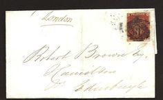 1845 1d Red Imperf Wrapper To Edinburgh    eBay