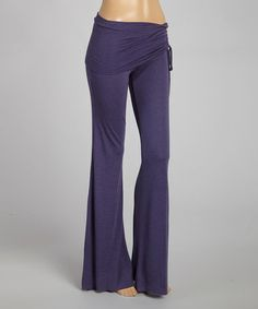 Another great find on #zulily! Purple Fold-Over Yoga Pants - Women & Plus #zulilyfinds