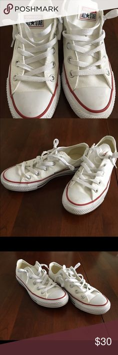 White Converse Shoes Worn only once or twice. Converse Shoes Sneakers