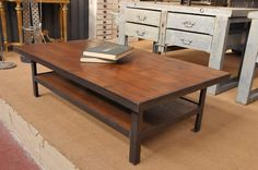 French Vintage Industrial Two Tiered Coffee Table – SOLD