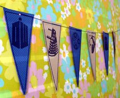 Doctor Who bunting--easy enough to make a paper version