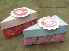 i love 2 cut paper: Cake Favor Boxes with Mommy & Me