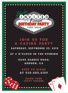 slot machine casino night invitation template parties parties