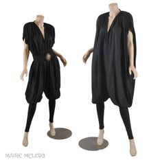 Norma Kamali Black Bubble Jumpsuit 1980's by MaireMcLeod on Etsy, $485.00