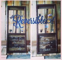 We know you would be here today if heaven wasn't so far away large easel  REVERSIBLE on Etsy, $99.00