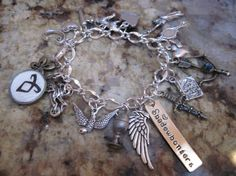 The Mortal Instruments Shadowhunters Charm Bracelet With Rune Charm Clary Jace Alec Vampires Werewolves Faeries