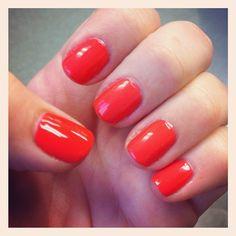 Coral short nails