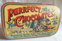 Vintage English Tin Chocolate Box Purrfect by JazzyMarie on Etsy, $15.00