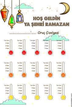 Oruc Takip 01 value List Of Activities, Infant Activities, Islam Ramadan, Ramadan Crafts, Islam For Kids, Islamic Studies, Ice Breakers, Journal Cards, Kids Education