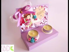 Scrapbooking: Scatola Regalo porta Candele - Candles Gift Box