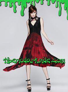 Tiberio Dark Side. - Vestido Gotico Teñido