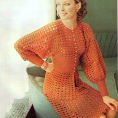 PDF CROCHET PATTERN Crochet Suit Blouse and Skirt Vintage. £1,50, via Etsy.