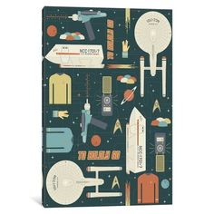 """East Urban Home 'To Boldly Go' Graphic Art Print on Wrapped Canvas Size: 26"""" H x 18"""" W x 0.75"""" D"""
