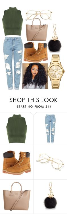 """Untitled #13"" by yagurlarii ❤ liked on Polyvore featuring WearAll, Topshop, Timberland, MANGO, Furla and Michael Kors"