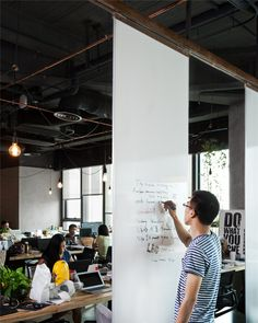 Whiteboard on tracks. Leo Digital Network Headquarter by LLLab, Shanghai – China » Retail Design Blog