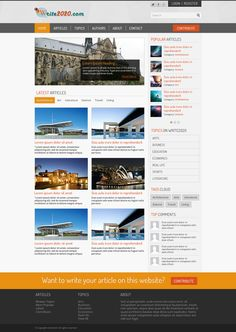 Blogging Web Template