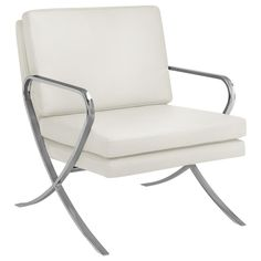 Atelier - Moderna - Bonded leather and metal lounge chair/LOUNGE CHAIRS/SEATING/SHOP BY PRODUCT/ATELIER BOUCLAIR|Bouclair.com