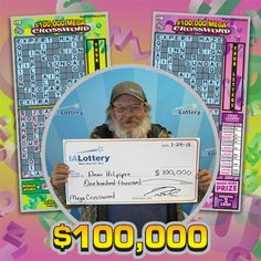 A big shout out to Dean Hilpipre of #Alden who recently retired and just claimed a $100,000 lottery prize! Dean purchased his winning ticket at his local Casey's General Store on Grand Ave. He said he plans to use his winnings to purchase a home. Congratulations! #WooHooForYou