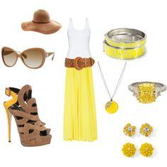 yellow maxi http://media-cache8.pinterest.com/upload/50313720807136493_z1DCE3K0_f.jpg ryn1117 my style