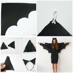 14 idées de déguisements DIY faciles à réussir pour Halloween 14 einfache DIY Halloween-Kostüm-Ideen für Halloween The post 14 einfache DIY Halloween-Kostüm-Ideen für Halloween appeared first on Melissa W Soderlund. Easy Diy Costumes, Diy Halloween Costumes For Women, Halloween Kostüm, Diy Halloween Decorations, Costume Ideas, Diy Bat Costume, Black Dress Halloween Costume, Halloween Kitchen, Costumes Faciles