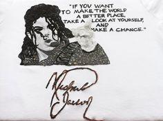 Michael Jackson T-shirt Custom MJ Quote painting rock – QuorArtisticTshirts