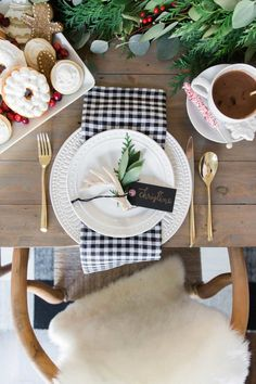 Christine Andrews Shares Her Holiday Dining Room Reveal With Cozy Velvet Accents A Buffalo Check Farmhouse Feel And The Perfect Details In Every Corner