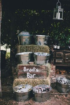 beer bar for a beer themed or rustic party