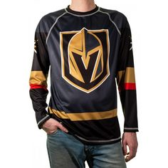 online shopping for NHL Men's Game Day Long-Sleeve Performance Loose Fit Rash Guard from top store. See new offer for NHL Men's Game Day Long-Sleeve Performance Loose Fit Rash Guard Man Games, Vegas Golden Knights, Swim Skirt, White T, Military Fashion, Mens Fashion, Rash Guard, Mens Clothing Styles, Nhl