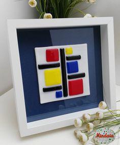 Cuadro de vidrio Mondrian. Cuadro  Mondrian . por ElRincondeMindaia