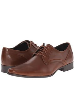 Calvin Klein Benton In British Tan Textured Leather Men's Shoes, Dress Shoes, Calvin Klein Men, Oxford Shoes, Footwear, Lace Up, Mens Fashion, Heels, Leather