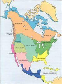 Pre Columbian America Map Pre Columbian Settlements in North America: Process | historical