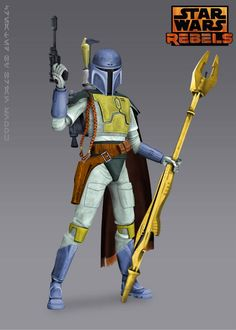This might make for an interesting Mando. I'm diggin' the pike weapon.