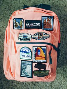 I'm obsessed with my friend Chloe's backpack! So cute and outdoorsy! Yellowstone National Park, National Parks, Obsessed With Me, I Series, Pikes Peak, Jansport Backpack, Backpacks, Cute, Black