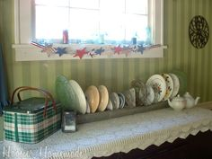 Decorating with an Antique Galvanized Chicken Feeder and a Summer Dining Room