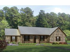Home Plans HOMEPW13110 - 2,136 Square Feet, 3 Bedroom 2 Bathroom Ranch Home with 2 Garage Bays