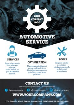 Flyers Bundle Template created with ‪#‎Youzign‬ - Automotive Service Theme
