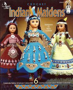 Indian Princess Crochet Doll Patterns   crochet doll clothes