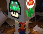Mario Brothers themed Lego lamp