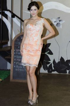 Orange Lace Mini Dress by KRISTOOFER