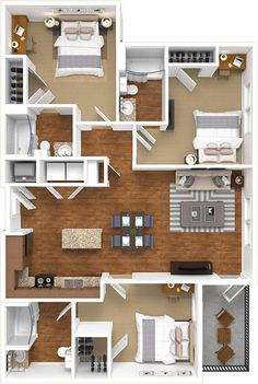 📌 50 Model House Plans for Your Inspiration - House Floor Plans « Sims House Plans, House Layout Plans, Dream House Plans, Small House Plans, House Layouts, House Floor Plans, Sims House Design, Small House Design, Modern House Design