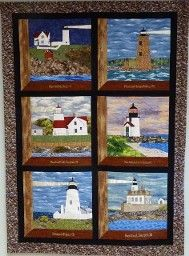 New England Lighthouse quilt blocks